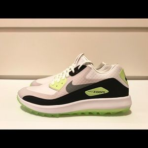 Nike Air Zoom 90 IT Golf Shoes White Grey Green